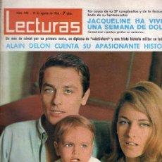 Coleccionismo de Revistas: REVISTA LECTURAS - ALAIN DELON Y FAMILIA. Lote 38573006