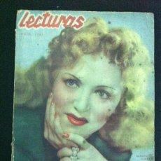 Coleccionismo de Revistas: REVISTA LECTURAS. JUNIO DE 1942. NUM. 212. 3,50 PESETAS.. Lote 38947496