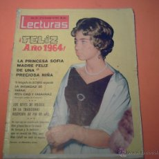 Coleccionismo de Revistas: REVISTA LECTURAS Nº 610 - 27 DICIEMBRE 1963- FELIZ AÑO 1964 LA PRINCESA SOFIA MADRE DE UNA NIÑA. Lote 39644928