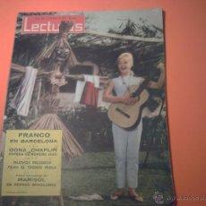 Coleccionismo de Revistas: REVISTA LECTURAS Nº 583 - 21 JUNIO 1963 - MARISOL EN TIERRAS BRASILEÑAS. Lote 39645081