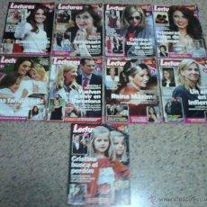 Coleccionismo de Revistas: LECTURAS - LOTE DE 9 REVISTAS.. Lote 40648860