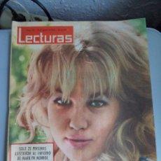 Coleccionismo de Revistas: REVISTA LECTURAS PORTADA MYLENE DEMONGEOT 1962. Lote 41483602