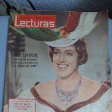 Coleccionismo de Revistas: REVISTA LECTURAS PORTADA MARY SANTPERE . 1962. Lote 41489832