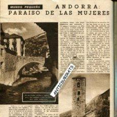 Coleccionismo de Revistas: REVISTA AÑO 1957 ANDORRA PARAISO PARA LAS MUJERES SISI HUMPHREY BOGART FOTOS DE CASA CINE. Lote 41731026
