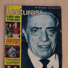 Coleccionismo de Revistas: REVISTA LECTURAS MARZO 1975.POSTER DE CHARLES CHAPLIN. Lote 41762478