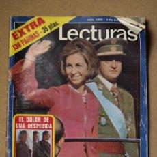 Coleccionismo de Revistas: REVISTA LECTURAS Nº 1233 DICIEMBRE 1975.LA PROCLAMACIÓN DEL REY.. Lote 41889594