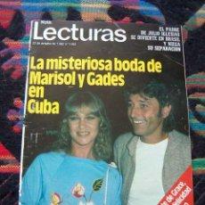 Coleccionismo de Revistas: LECTURAS / MARISOL & ANTONIO GADES, VICTORIA ABRIL, LINA MORGAN, MIGUEL BOSE, ANA TORROJA, BLONDIE. Lote 42779718