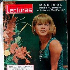 Coleccionismo de Revistas: REVISTA LECTURAS Nº 672 , AÑO 1965 MARISOL EN PORTADA. Lote 43062073