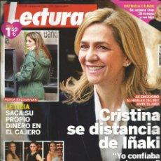 Coleccionismo de Revistas: REVISTA LECTURAS 3230. 19 DE FEBRERO DE 2014. CRISTINA SE DISTANCIA DE IÑAKI.. Lote 43331833