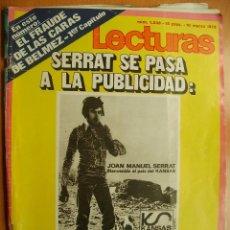 Coleccionismo de Revistas: LECTURAS Nº1038-10/3/72-DON ALFONSO DE BORBON-LIZ TAYLOR-MANO ESCOBAR-RAPHAEL-JOAN MANUEL SERRAT. Lote 43418274