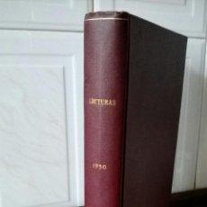 Coleccionismo de Revistas: TOMO DE AÑO COMPLETO 1950 REVISTA LECTURAS BUEN ESTADO VER FOTOS. Lote 44630260