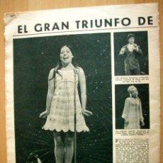 Coleccionismo de Revistas: MASSIEL ARTICULO RECORTE REVISTA LECTURAS 12 ABRIL 1968. Lote 45002383