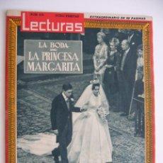 Coleccionismo de Revistas: REVISTA LECTURAS. Nº 475. 15 MAYO 1960. LA BODA DE LA PRINCESA MARGARITA.. Lote 45289403