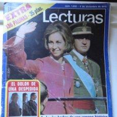Coleccionismo de Revistas: REVISTA LECTURAS EXTRA 12/1975 CORONACION REYES ESPAÑA Y ENTIERRO FRANCO.... Lote 45334556