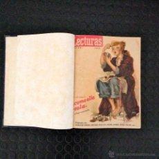Coleccionismo de Revistas: TOMO ENCUADERNADO REVISTA LECTURAS AÑO 1948 COMPLETO 12 NUMEROS. Lote 45509168