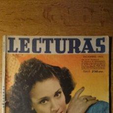 Coleccionismo de Revistas: ANTIGUA REVISTA LECTURAS. CELIA GAMEZ. 1942. Lote 46670787