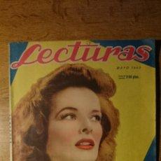 Coleccionismo de Revistas: ANTIGUA REVISTA LECTURAS. KATHERINE HEPBURN. LA SEO Y EL PILAR DE ZARAGOZA. CARLOS ARNICHES. 1943. Lote 50580307