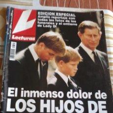 Coleccionismo de Revistas: REVISTA LECTURAS. Nº 2372 EL INMENSO DOLOR DE LOS HIJOS DE DIANA. Lote 46717094