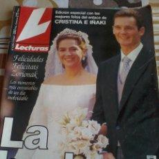 Coleccionismo de Revistas: REVISTA LECTURAS LA BODA. EDIC ESPECIAL CON LAS MEJORES FOTOS DEL ENLACE DE CRISTINA E IÑAKI.. Lote 46717215