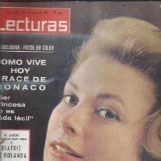 Collectionnisme de Magazines: REVISTA LECTURAS Nº 688 25 JUNIO 1965, GRACE DE MONACO, BEATRIZ DE HOLANDA, FABIOLA Y BALDUINO. Lote 46765197