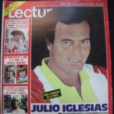 Collectionnisme de Magazines: REVISTA LECTURAS Nº 1537. JULIO IGLESIAS CELEBRA SUS 38 AÑOS EN PARIS.. 2 OCTUBRE 1981. Lote 46891230