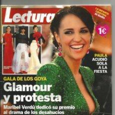 Coleccionismo de Revistas: REVISTA LECTURAS. NÚMERO 3179. 27 DE FEBRERO DE 2013. GALA DE LOS GOYA: GLAMOUR Y PROTESTA. Lote 47737295