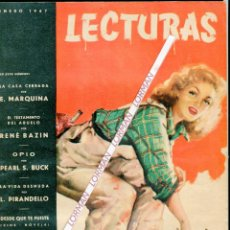 Coleccionismo de Revistas: PORTADA RIERA ROJAS PAUL HENREID-HUMPHREY BOGART-DESDE QUE TE FUISTE CINENOVELA-PUBLICIDAD AÑO 1947. Lote 48227715