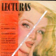 Coleccionismo de Revistas: PORTADA RIERA ROJAS-CASABLANCA HUMPHREY BOGART INGRID BERGMAN CINENOVELA PUBLICIDAD FEBRERO 1947. Lote 48228018