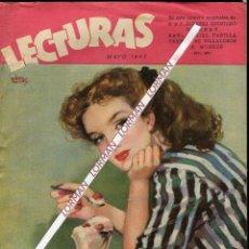 Coleccionismo de Revistas: PORTADA RIERA ROJAS-PEÑAROLLA-OLIVIA DE HAVILLAND-CINE NOVELA JOHN CARROLL RUTH HUSSAY MAYO 1947. Lote 48232238