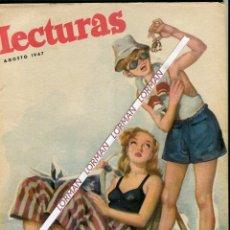 Coleccionismo de Revistas: PORT. RIERA ROJAS -MIRNA LOY-CINE AMERICANO- NOVIAZGO ELISABETH INGLAT. FELIPE GRECIA - AGOSTO 1947. Lote 48241463