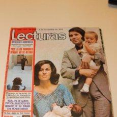 Coleccionismo de Revistas: LECTURAS Nº1177 1974, EL CORDOBES NO PUEDE SER EL PADRINO DE LA HIJA DE RAFAEL. Lote 48505279