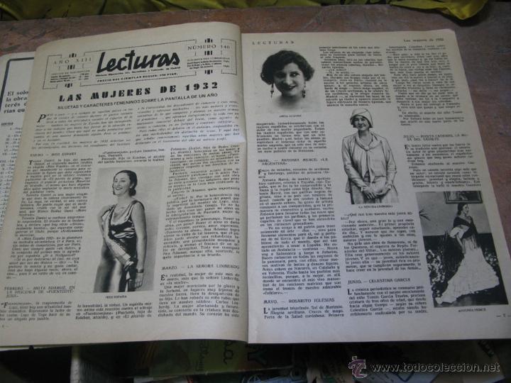 Coleccionismo de Revistas: REVISTA LECTURAS ENERO 1933 - Foto 2 - 48618637