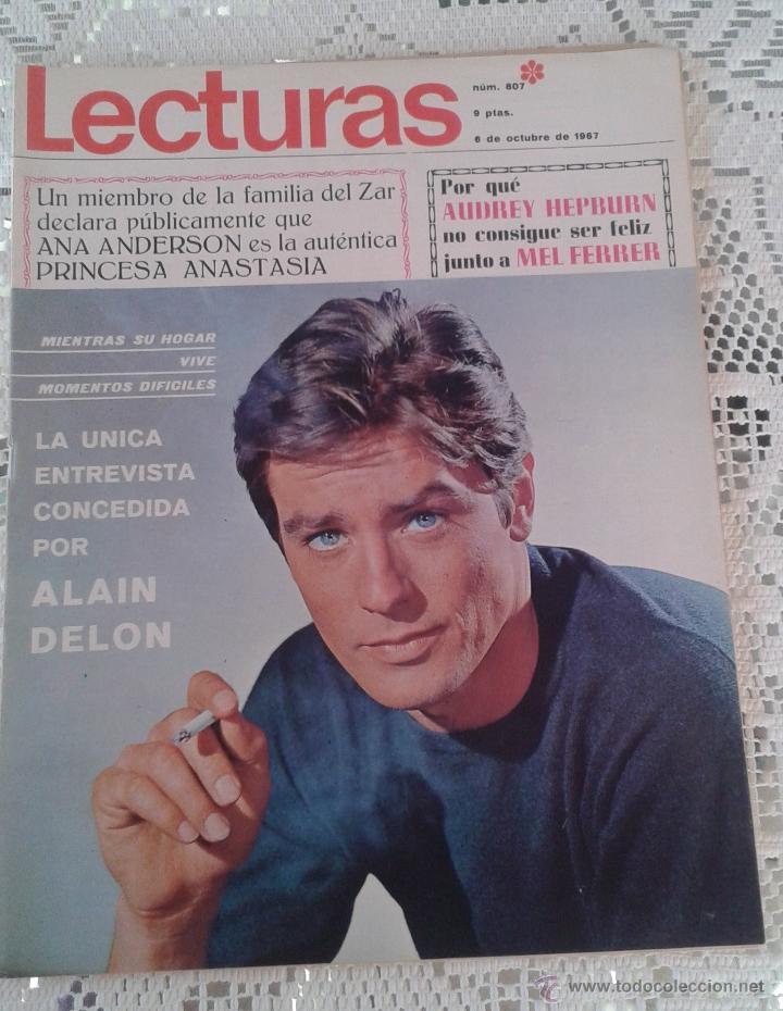 REVISTA LECTURAS Nº 807 6 DE OCTUBRE 1967 (Coleccionismo - Revistas y Periódicos Modernos (a partir de 1.940) - Revista Lecturas)