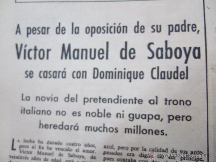Coleccionismo de Revistas: REVISTA LECTURAS - 1960 - SARA MONTIEL - BEATRIZ DE SABOYA - MARLENE DIETRICH - FARAH DIBAH - Y MAS - Foto 13 - 48661712