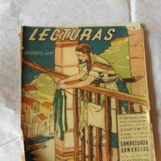 Collectionnisme de Magazines: MAGNIFICA ANTIGUA REVISTA LECTURAS AGOSTO 1937. Lote 50726338