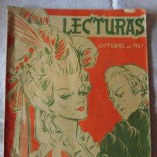 Collectionnisme de Magazines: MAGNIFICA REVISTA ANTIGUA LECTURAS OCTUBRE 1937. Lote 50726844