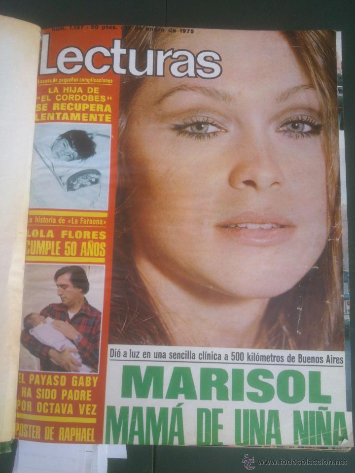 REVISTA LECTURAS VER FOTOS HISTORIA DE ESPAÑA 18 REVISTAS AÑOS;70S (Coleccionismo - Revistas y Periódicos Modernos (a partir de 1.940) - Revista Lecturas)