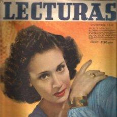 Coleccionismo de Revistas: LECTURAS ( DICIEMBRE DE 1942) EN CUBIERTA: CELIA GAMEZ. Lote 51129196