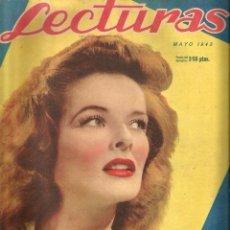 Coleccionismo de Revistas: LECTURAS ( MAYO DE 1943) EN CUBIERTA: KATHERINE HEPBURN. Lote 51129221
