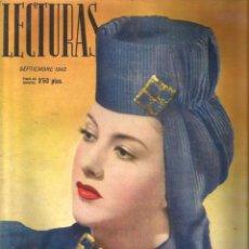 Coleccionismo de Revistas: LECTURAS (SEPTIEMBRE DE 1943) EN CUBIERTA: AMPARITO RIVELLES. Lote 51129243