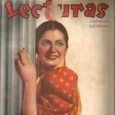 Coleccionismo de Revistas: LECTURAS (FEBRERO DE 1944) EN CUBIERTA: JUANITA REINA . Lote 51129293