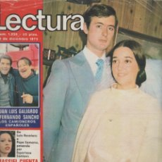 Coleccionismo de Revistas: LECTURAS NÚMERO 1235 DEL 19 DICIEMBRE 1975*** SERGIO Y ESTIBALIZ**MASSIEL**JUAN BAU**FRANK SINATRA. Lote 52896043