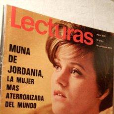 Coleccionismo de Revistas: REVISTA LECTURAS AÑO 1970 Nº 967 MUNA DE JORDANIA LIZ TAYLOR FARAH DIBA MIGUEL RIOS LOT200. Lote 53020824