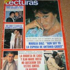 Coleccionismo de Revistas: LECTURAS 1502-30 ENERO 1981-MARISOL REPORTAJE1 PG.4 FOTOS-2 PG GADES-POSTER G GRANT VER ENVIOS. Lote 54048565