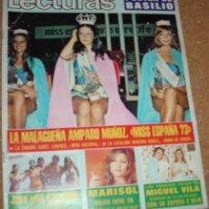 Coleccionismo de Revistas: LECTURAS 1116-7 SPBRE 1973-MARISOL REPORTAJE DE 1 PG Y 4 FOTOS- POSTER DE BASILIO-AMPARO MUÑOZ FOTOS. Lote 54071502