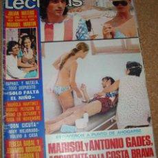 Coleccionismo de Revistas: LECTURAS 1110-27 JULIO 1973 -MARISOL 1 PG Y 4 FOTOS -POSTER JULIO IGLESIAS- ELVIS-ROCIO VER ENVIOS. Lote 54081144
