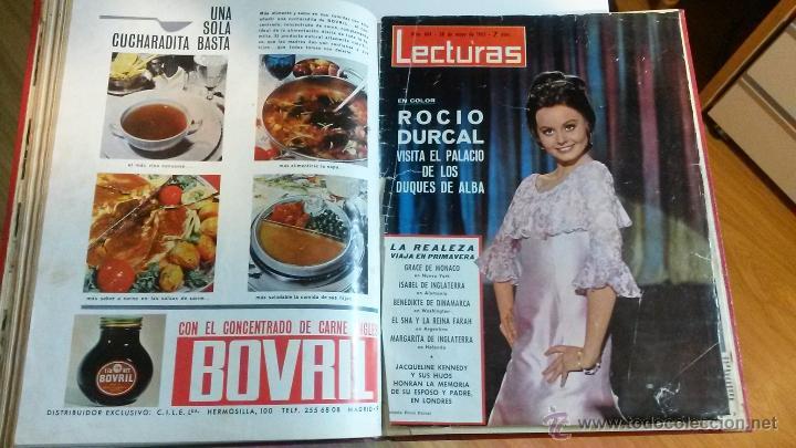 TOMO ENCUADERNADO DE LECTURAS (Coleccionismo - Revistas y Periódicos Modernos (a partir de 1.940) - Revista Lecturas)