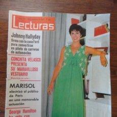 Coleccionismo de Revistas: REVISTA LECTURAS CONCHA VELASCO 1966 (MARISOL,G.HAMILTON, GRACE RAINIERO,...). Lote 56369662