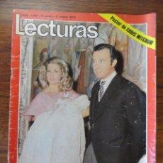 Coleccionismo de Revistas: REVISTA LECTURAS BAUTIZO DUQUES DE CADIZ (LOLA FLORES,MITCHUM,TRES SUDAMERICANOS,FRANCO...). Lote 56370177