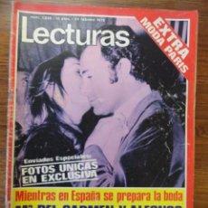 Coleccionismo de Revistas: REVISTA LECTURAS CARMEN Y ALFONSO 1972 (EXTRA MODA PARIS,RAPHAEL, POSTER JULIO IGLESIAS,...). Lote 56370525